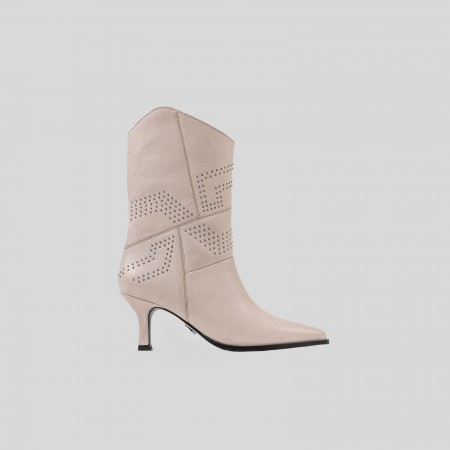 BRONX / Ankle boots / New-lara off white studs