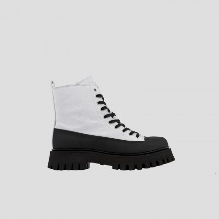 BRONX / Boots / Groov-y canvas black / off white