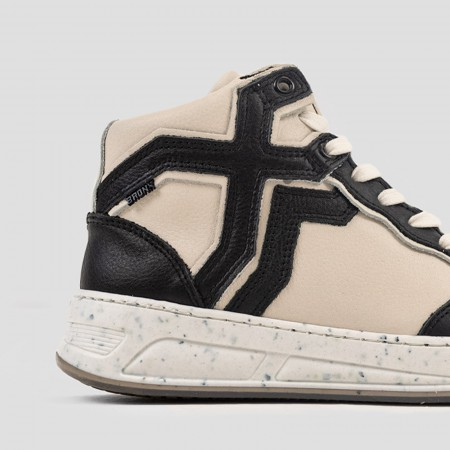 BRONX / Trainers / OLD-COSMO HIGH TOP SPLIT PATTERN BLACK/OFF WHITE