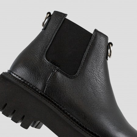 Bronx Black Leather Sandal