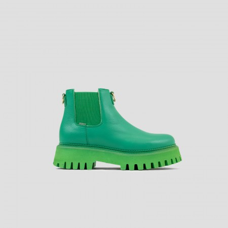 Bronx White Leather Sandal