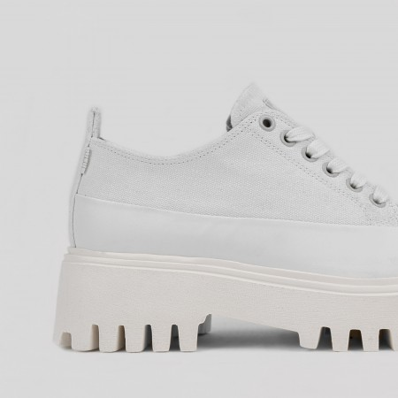 BRONX / Trainers / Groov-y low lace up canvas off white