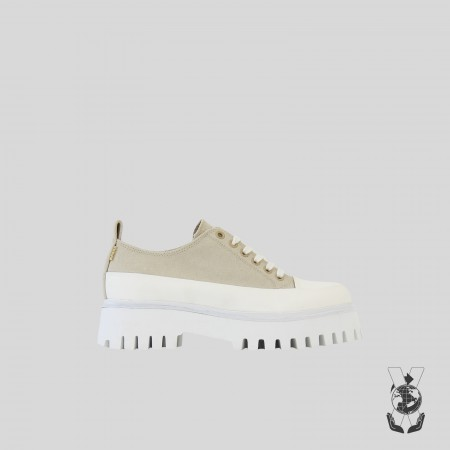 BRONX / Trainers / Groov-y low lace up canvas camel